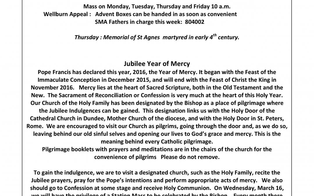 Parish newsletter – 17/01/16