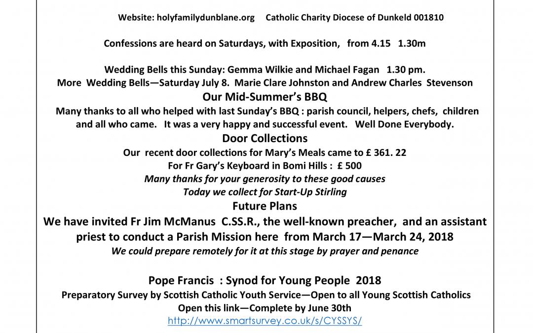 Parish Newsletter – 02/07/17