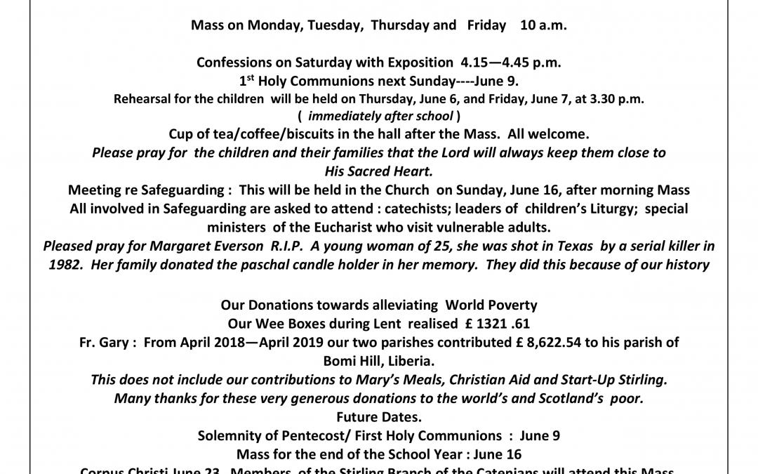 Parish Newsletter – 02/06/19